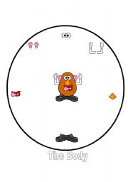English Worksheet: Mr Potato Head Spinner Game