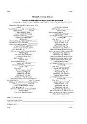 English worksheet: Don´t stop the music - Rihanna