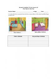 English Worksheets: Predo and Rosy�s Room
