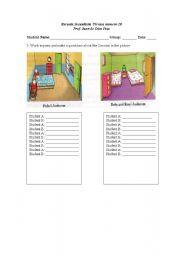 English Worksheets: Pedro�s Room