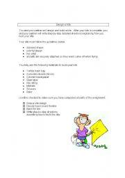 English Worksheets: Design a Kite