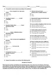 English Worksheet: PAST WAS / WERE - THERE WAS / THERE WERE