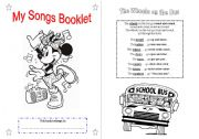 English Worksheet: SONGS for children - Booklet part 1 - B&W