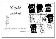 English Worksheets: English notebook