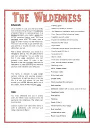 WILDERNESS: SURVIVAL EXERCISE - ESL worksheet by _babz