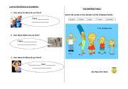 English worksheet: FAMILY WORKSHEET