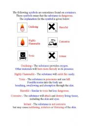 English Worksheets: Hazard signs