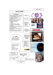 English Worksheet: Reality Shows