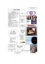 English Worksheet: Reality Shows