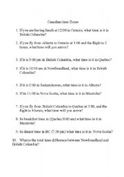 Printables Time Zone Worksheets english worksheets time zones page 2 canadian zones