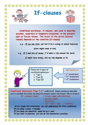 English Worksheet: If Clauses (all types)
