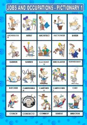 English Worksheet: JOBS AND OCCUPATIONS - PICTIONARY 1
