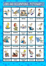 English Worksheet: JOBS AND OCCUPATIONS - PICTIONARY 2