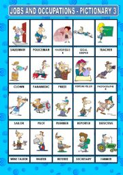 English Worksheet: JOBS AND OCCUPATIONS - PICTIONARY 3