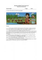 English Worksheets: ATrip on Canoe