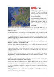English Worksheet: Piracy article + writing activity