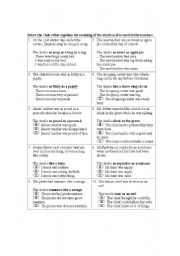 English Worksheet: Simile and Metaphor Worksheet