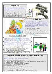 English Worksheet: Most common mistakes in English language