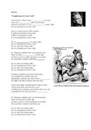 English Worksheet: Englishman in New York