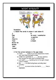 English Worksheets: What Subject are you good at?