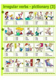 English Worksheets: IRREGULAR VERBS - PICTIONARY 3 - PART 3
