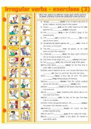 English Worksheets: IRREGULAR VERBS - EXERCISE 3
