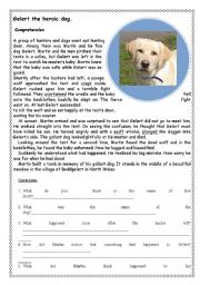 English Worksheet: Dog saves child
