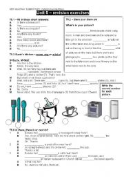 English Worksheet: NEW HEADWAY ELEMENTARY, revision exercises