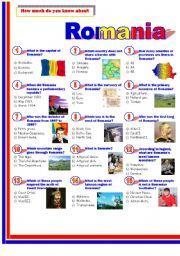 English Worksheets: Romania