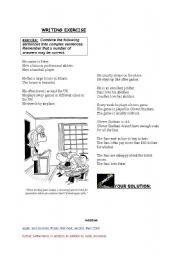 English Worksheets: Writing Exercise