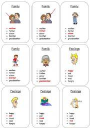 English Worksheet: Card game - quartet vocabulary. (2 pages) 1/2
