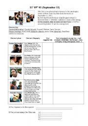Film Appreciation - 9/11 (September 11) - ESL worksheet by Bbie
