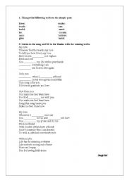 English Worksheet: Simply Red - You make me feel brand new