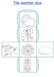 English Worksheet: The weather dice