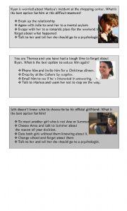 English Worksheets: PET SPEAKING PRACTICE