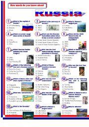 English Worksheet: Russia