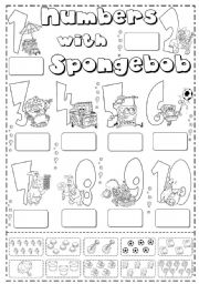 English Worksheet: numbers 1-10