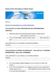 English Worksheet: Sydney Airport websearch