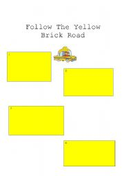 English Worksheets: Follow The Yellow Brick Road: Sequencing