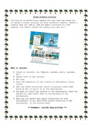 printable travel brochure template for kids - english worksheet travel brochure activity