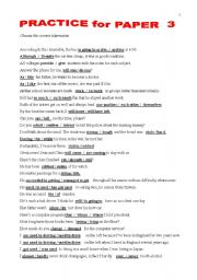 English Worksheet: FIRST CERTIFICATE - Confusables