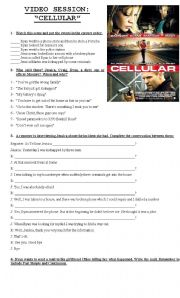 English Worksheets: Movie guide Cellular