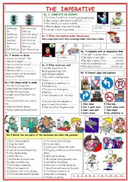 English Worksheet: The imperative