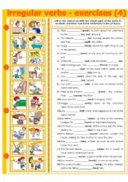 English Worksheet: IRREGULAR VERBS - EXERCISE 4