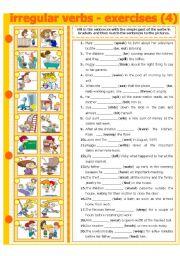 English Worksheets: IRREGULAR VERBS - EXERCISE 4