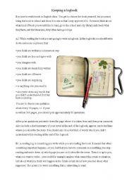 English Worksheet: Reading log