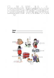 English worksheet: Work book front cover