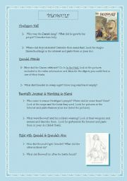 English Worksheets: beowulf