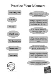English Worksheets: Practice your maners