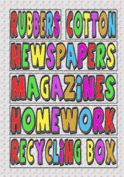 English Worksheets: Labels for Arts & Crafts